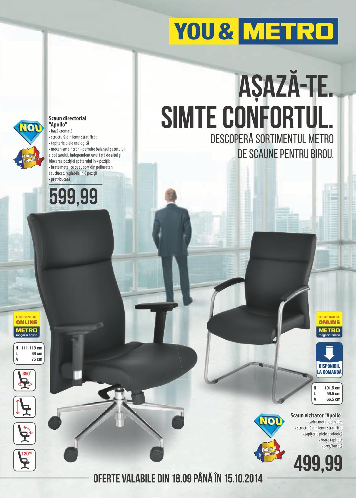 Metro scaune de birou