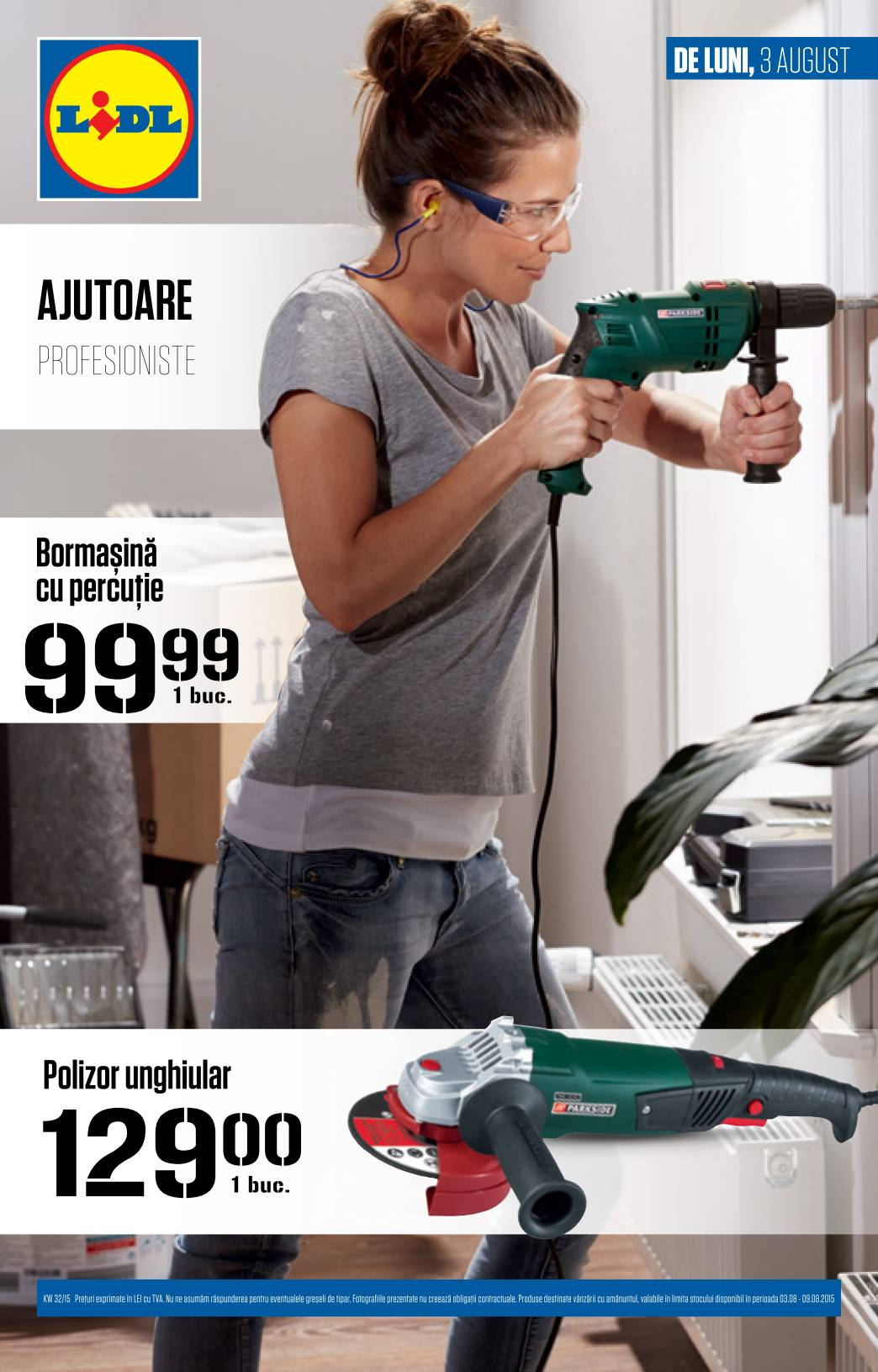 Catalog lidl scule electrice 3 9 august 2015 catalog az for Cataleg lidl