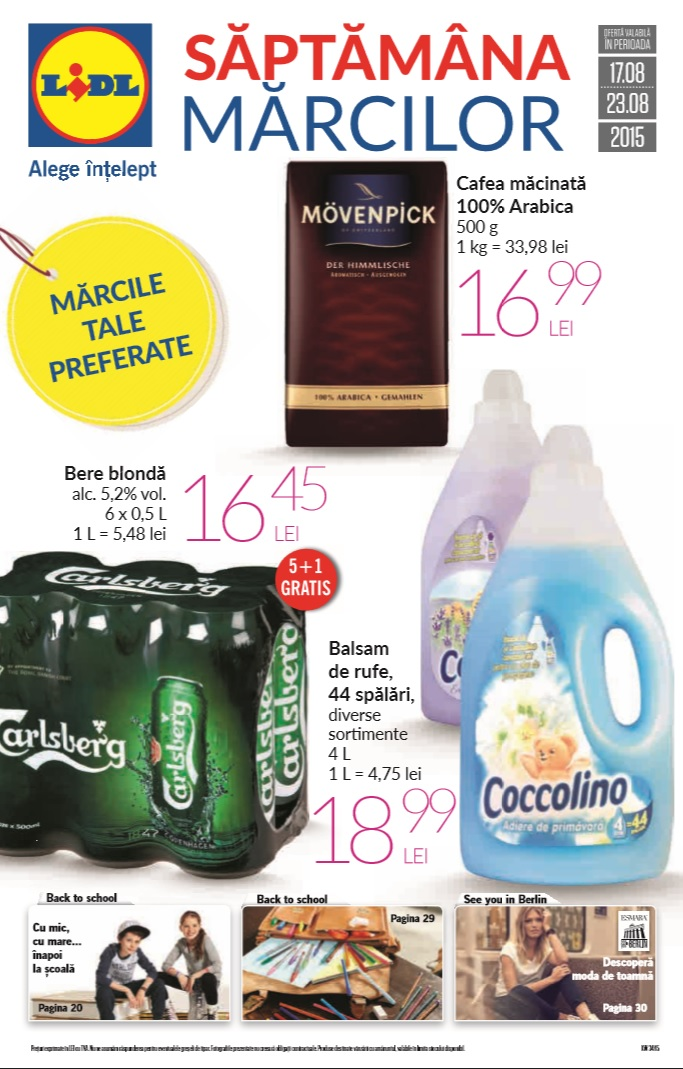 Catalog lidl saptamana marcilor 17 23 august 2015 catalog az for Cataleg lidl