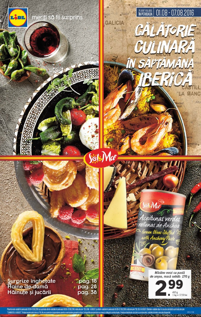 Catalog lidl saptamana iberica 01 07 august 2016 for Cataleg lidl
