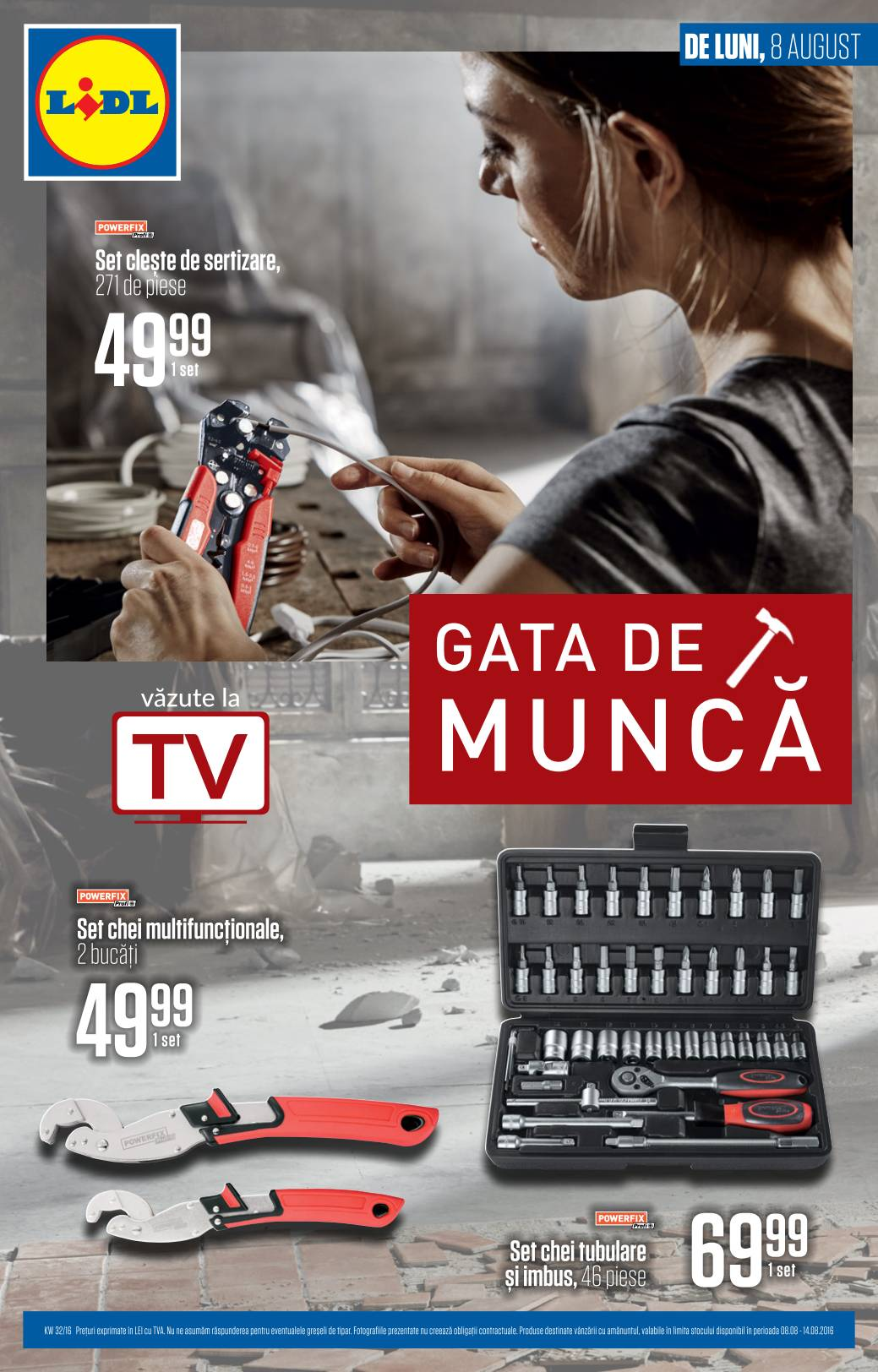 Catalog lidl gata de munca 08 14 august 2016 catalog az for Cataleg lidl