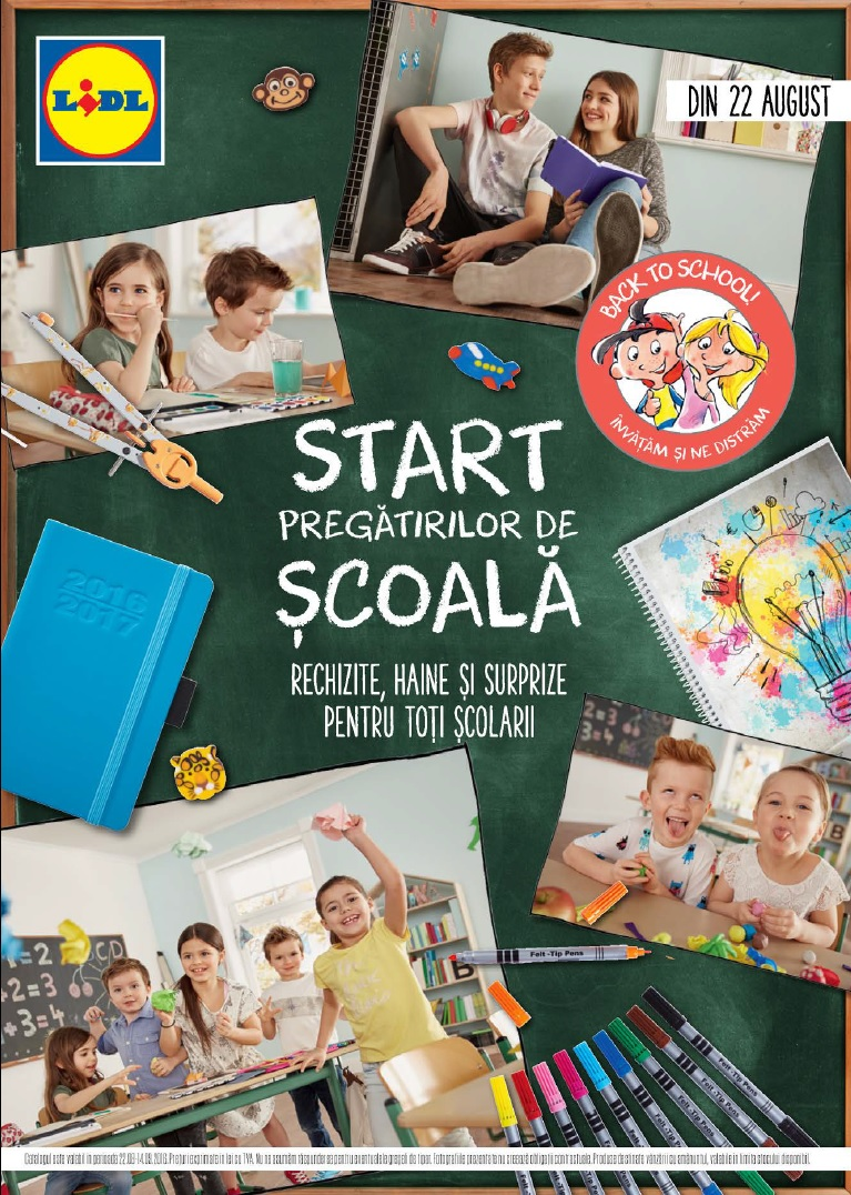 Catalog lidl pregatiri de scoala 22 august 8 septembrie 2016 for Cataleg lidl