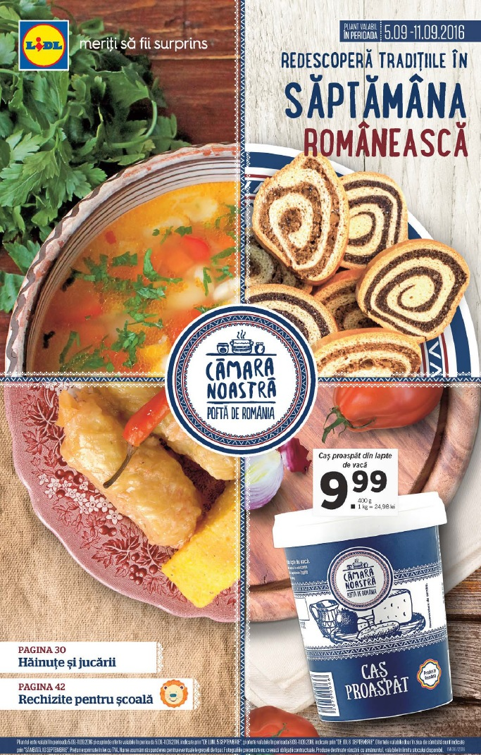 Catalog lidl saptamana romaneasca 05 11 septembrie 2016 for Cataleg lidl