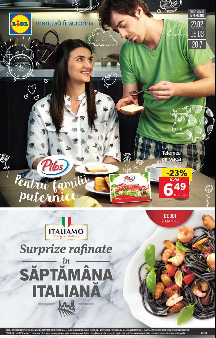 Catalog lidl saptamana italiana 27 februarie 05 martie 2017 for Cataleg lidl