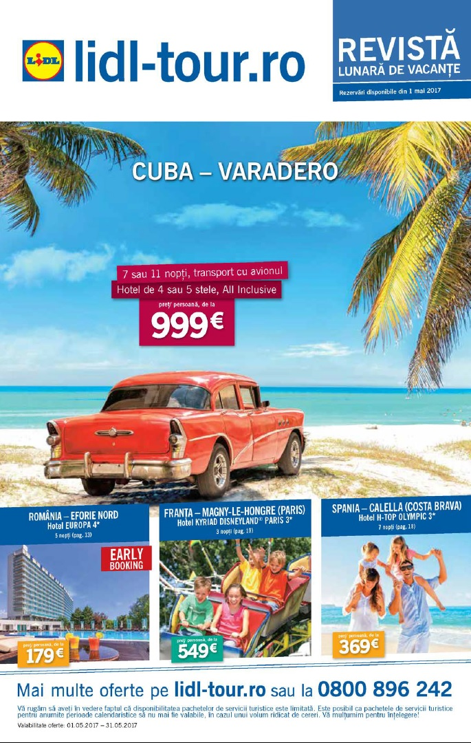 Catalog lidl tour oferte vacanta mai 2017 catalog az for Cataleg lidl