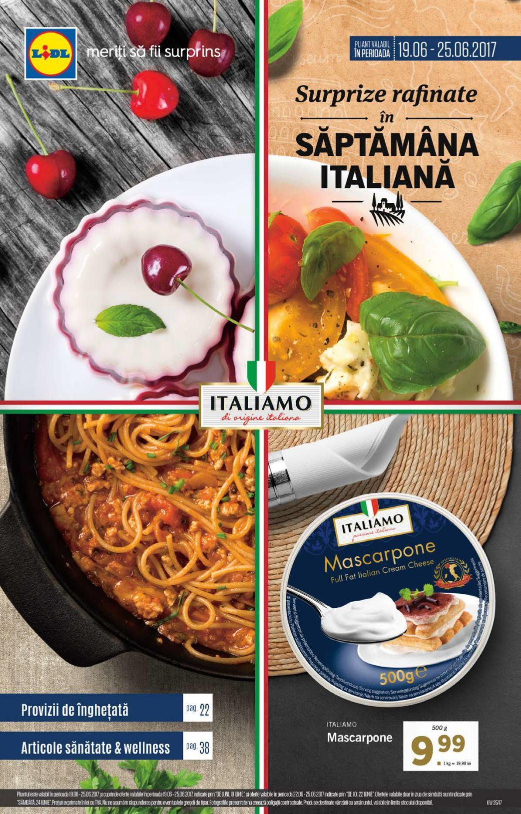 Saptamana italiana lidl 2020