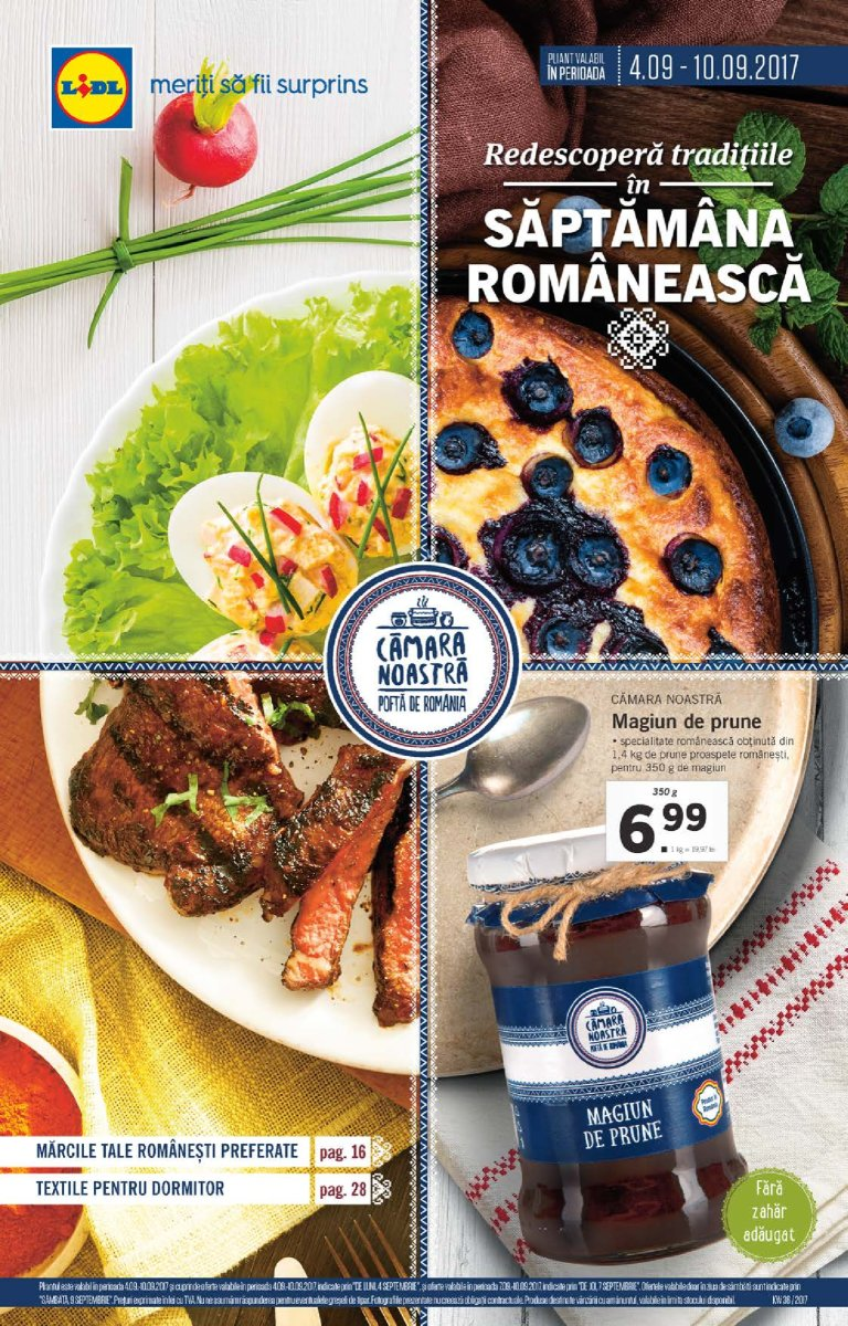 Catalog lidl saptamana romaneasca 04 10 septembrie 2017 for Cataleg lidl