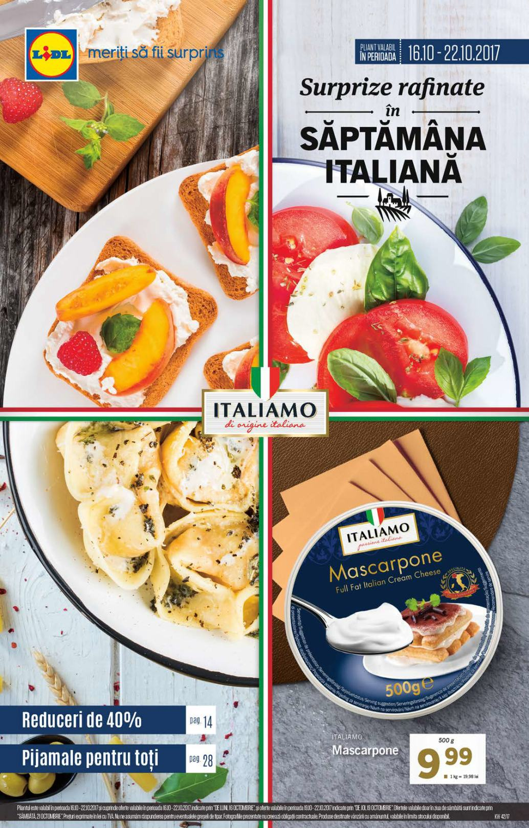 Catalog lidl saptamana italiana 16 22 octombrie 2017 for Cataleg lidl