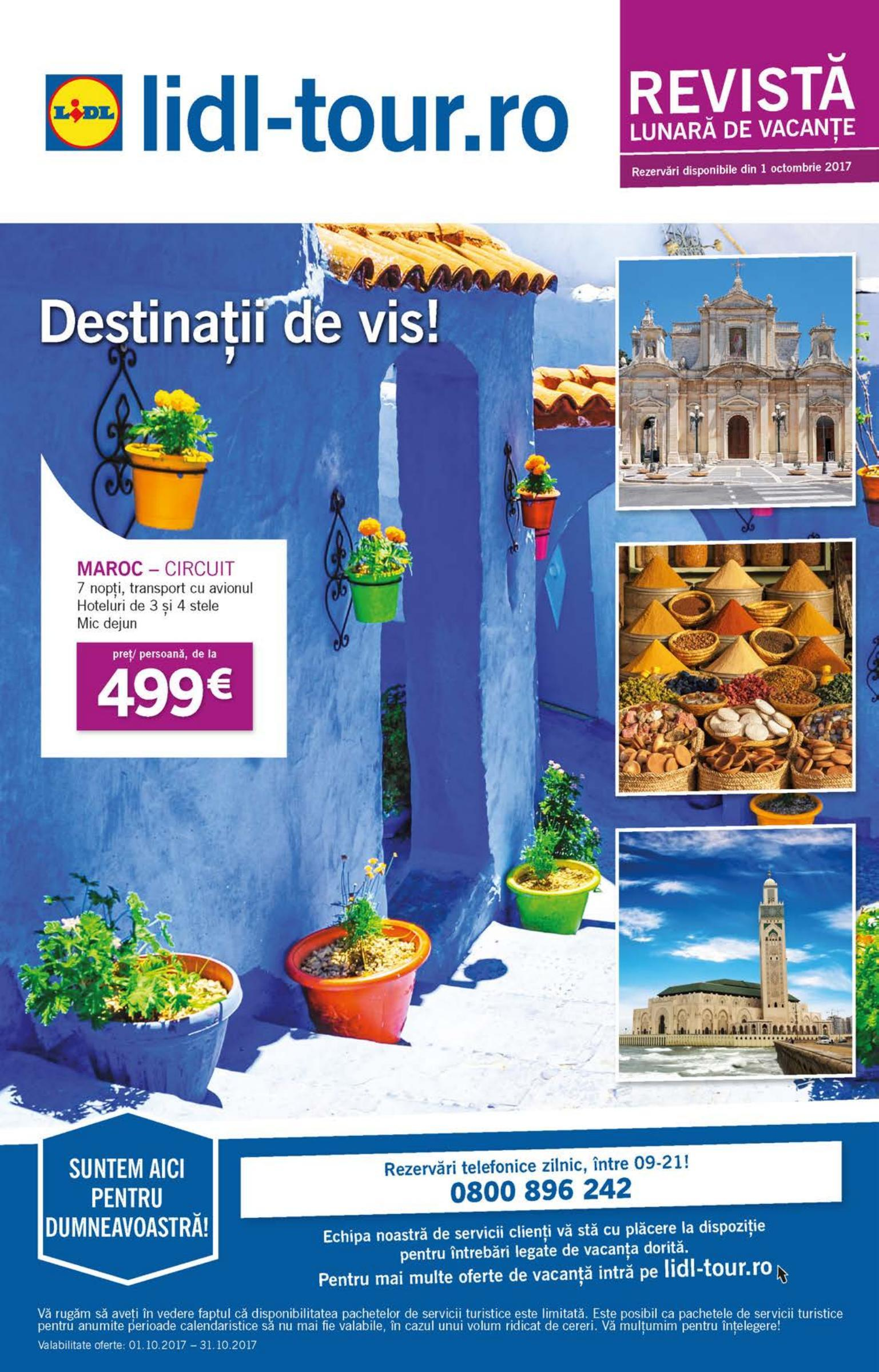 Catalog lidl tour destinatii de vis in octombrie 2017 for Cataleg lidl