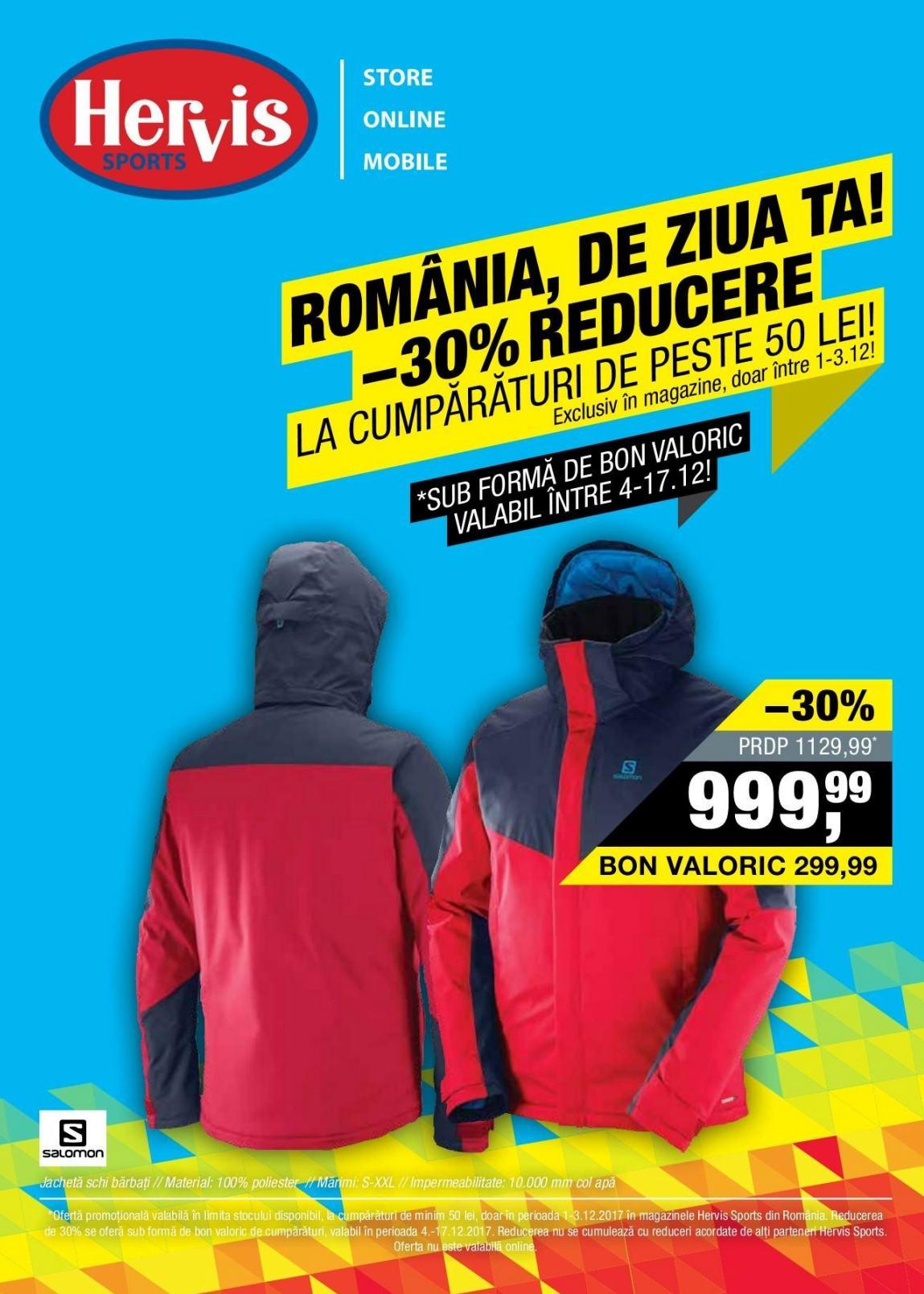 Hervis Sports Romania de Ziua Ta 01 – 03 Decembrie 2017 b09c4bd27a