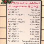 Selgros Program de Sarbatori 2017 – 2018