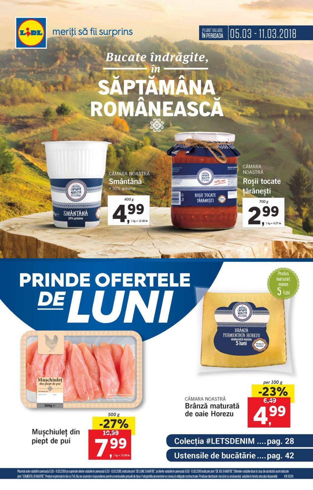 Catalog lidl oferte in saptamana romaneasca 05 11 martie for Cataleg lidl
